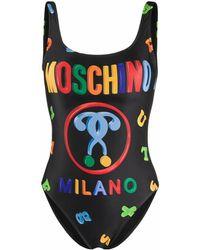 Moschino Logo Swimsuit - Black