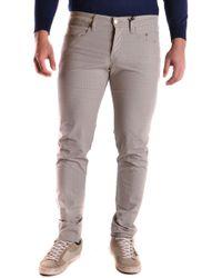 Siviglia Grey Cotton Trousers - Gray