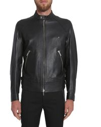 Dior Leather Outerwear Jacket - Black