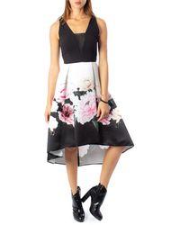 Rinascimento Black Polyester Dress