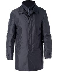 Fay - Blue Polyester Coat - Lyst