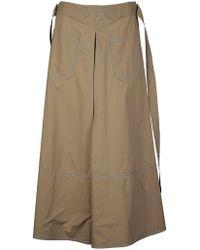 Marni Green Cotton Skirt
