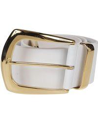 B-Low The Belt Gold Leather Belt - Metallic