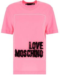Love Moschino W4h0614m3517l89 andere materialien t-shirt - Pink