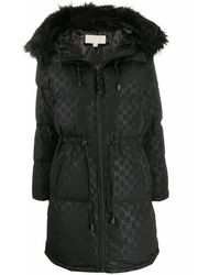 Michael Kors Polyester Down Jacket - Black