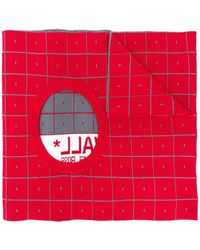 A_COLD_WALL* Geometric Pattern Cut-out Scarf - Red