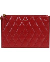 Givenchy Red Leather Pouch