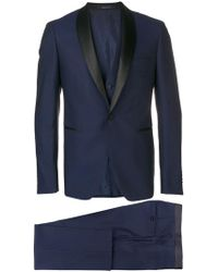 Tagliatore Blue Wool Suit
