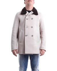 Herno Pe002ur33284emarrone leder trench coat - Braun