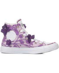 Converse Luxury Fashion MI1220 Violett Stoff Hi Top Sneakers | Jahreszeit Permanent - Lila