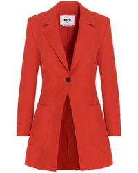 MSGM ANDERE MATERIALIEN JACKE - Rot