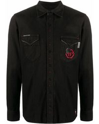 Philipp Plein Cotton Shirt - Black