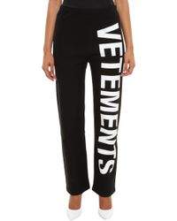 Vetements - Printed Cotton Trackpants - Lyst