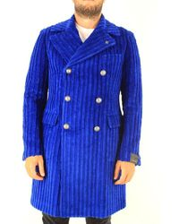 Tagliatore Blue Wool Coat