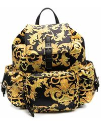 Versace Jeans Couture Baroque-print Backpack - Black