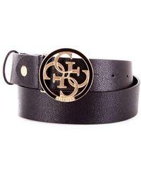 Guess Black Faux Leather Belt