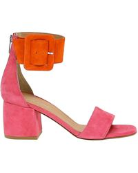 Janet & Janet Suede Sandals - Red