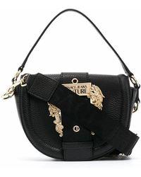 Versace Jeans Couture Leather Shoulder Bag - Black