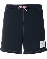 Thom Browne Polyester Trunks - Blue