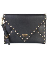 Moschino Leather Clutch - Black