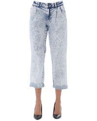 Michael Kors Women's Mh99ct4d8d961 Blue Cotton Jeans