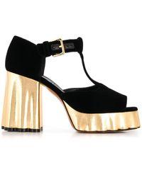 Marni Leather Heels - Black