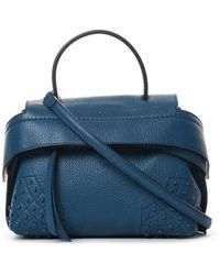 Tod's Mini Wave Leather Tote Bag - Blue
