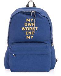 Celine Polyamide Backpack - Blue