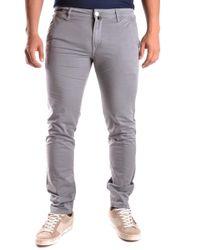 Pt05 Grey Cotton Jeans - Gray