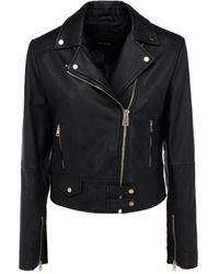 Pinko Other Materials Outerwear Jacket - Black