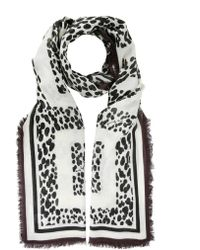 Givenchy - White/black Cashmere Scarf - Lyst