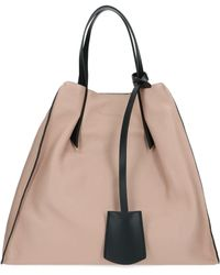 Manila Grace Pink Leather Tote