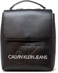 Calvin Klein Black Polyurethane Backpack
