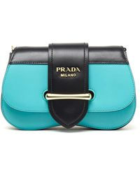 Prada Multicolour Leather Belt Bag - Blue