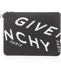 Givenchy Clutch mit Logo-Print - Schwarz