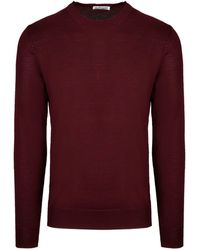 Jil Sander Burgundy Wool Jumper - Red