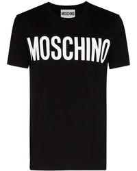 Moschino - SCHWARZ BAUMWOLLE T-SHIRT - Lyst