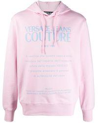 Versace Jeans Couture Felpa con stampa - Rosa