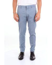 Michael Coal Light Blue Cotton Trousers