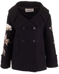 Valentino Wool Coat - Black