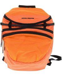 Heron Preston Polyester Backpack - Orange