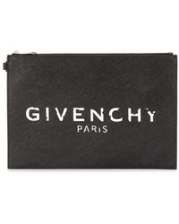 Givenchy Black Synthetic Fibres Pouch