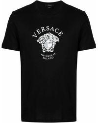 Versace T-Shirt mit Medusa - Schwarz