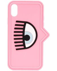 Chiara Ferragni Flirting Eye Iphone X/xs Case - Pink