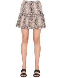 Michael Kors Mu1701s2dr223 Polyester Skirt - Natural