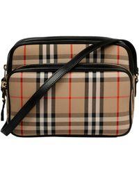 Burberry Beige Cotton Shoulder Bag - Natural