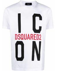 DSquared² T-Shirt mit Logo-Print - Mehrfarbig
