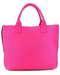 Pinko Fuchsia Fabric Handbag - Purple