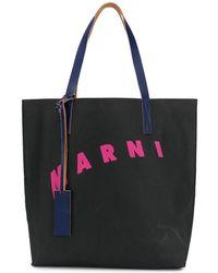 Marni LEDER TOTE - Mehrfarbig
