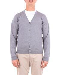 Heritage Grey Wool Cardigan - Gray